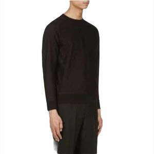 Paul Smith Black Mainline Lace Overlay Pullover